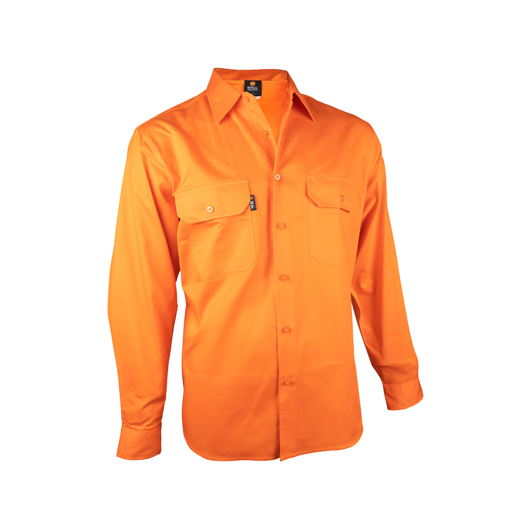 Long Sleeve Light Weight Shirt (BT356) Orange - Ball Tearer