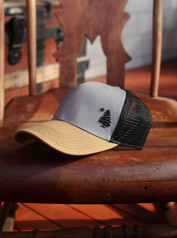 1901 Original Maine Trucker Hat Embroidered - Grey