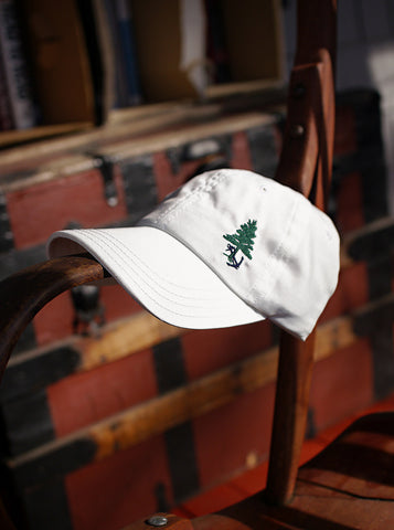 Maine Merchant Marine Embroidered Baseball Cap- White