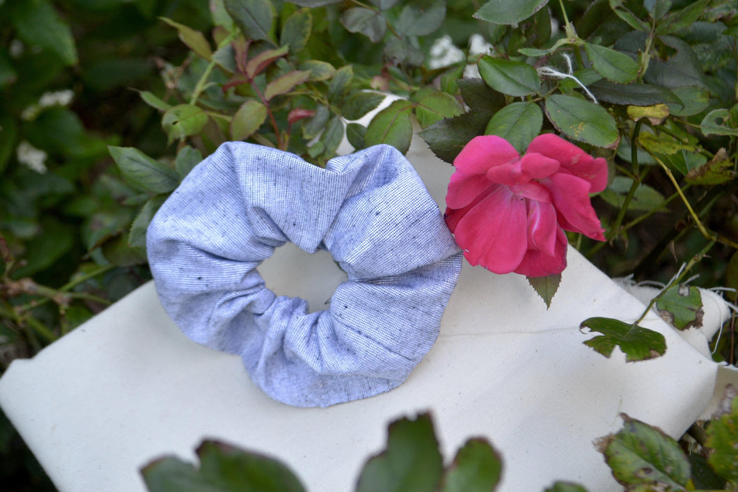 Large Silver Scrunchie - Fly Sew Lovely Boutique