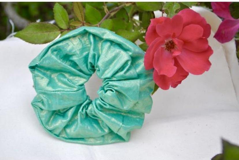 Green Gold Scrunchie - Fly Sew Lovely Boutique