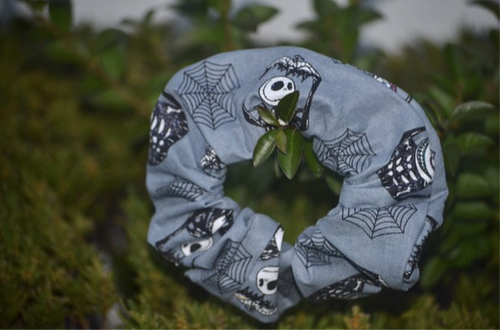 Jack Skellington Nightmare Before Christmas Scrunchie - Fly Sew Lovely Boutique