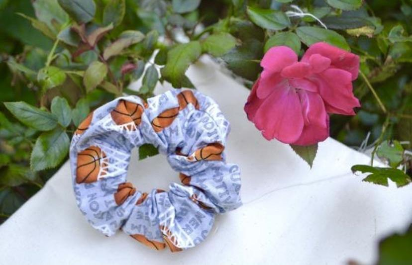 Basketball Scrunchie - Fly Sew Lovely Boutique