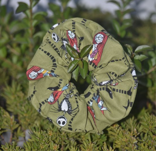 Jack Skellington Scrunchie - Fly Sew Lovely Boutique