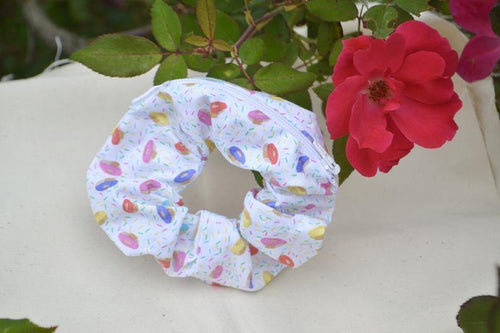 Donut Scrunchie with Zipper Pouch - Fly Sew Lovely Boutique