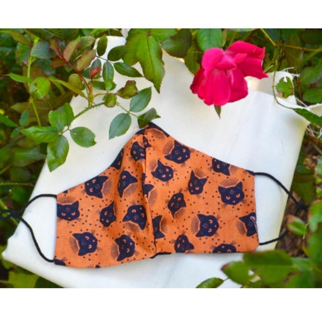 Witchy Cat Face Mask - Fly Sew Lovely Boutique