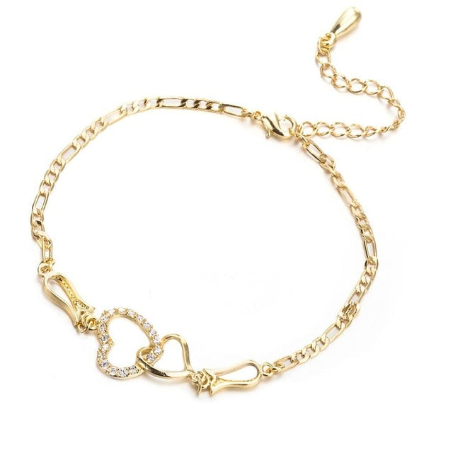 Hearts Entwined Anklets
