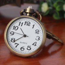 Load image into Gallery viewer, Retro Bronze vintage pocket watch Keychain