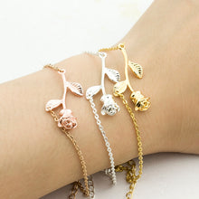 Load image into Gallery viewer, Rose Charm Bracelet