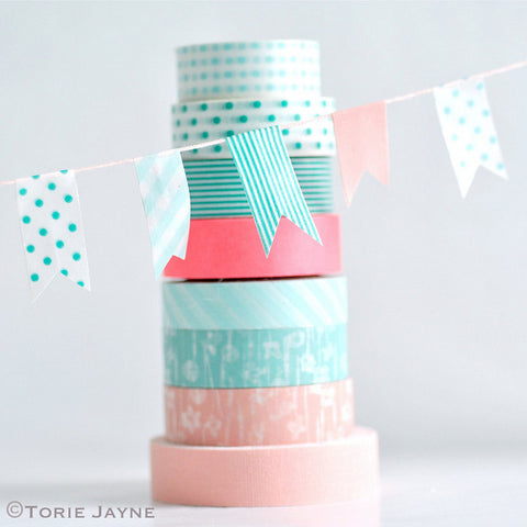 washi tape bunting how to