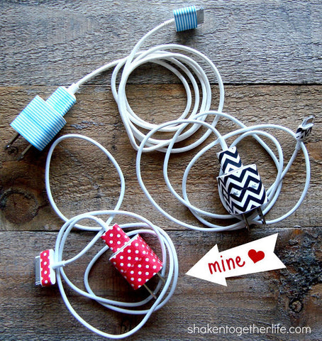 Washi Tape Iphone Charger Plug