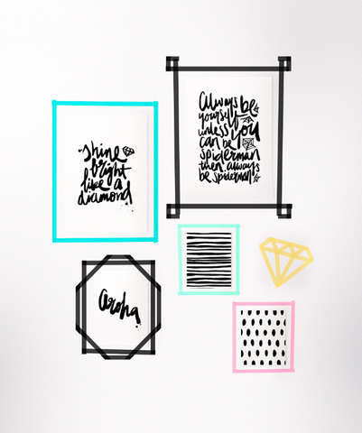 quotes washi frames
