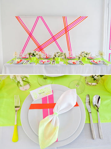 neon wedding washi