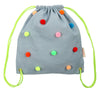 Chambray Pom Pom Back Pack