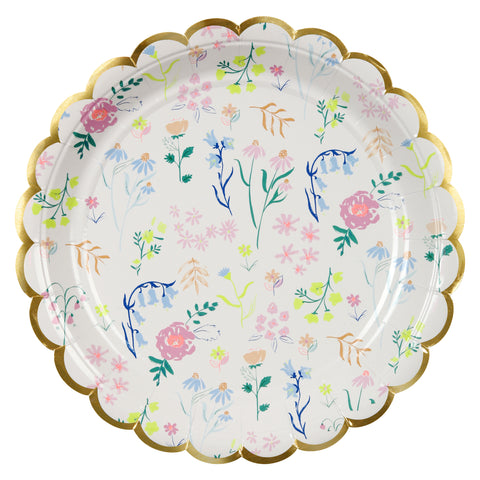 Large Wildflower Plates