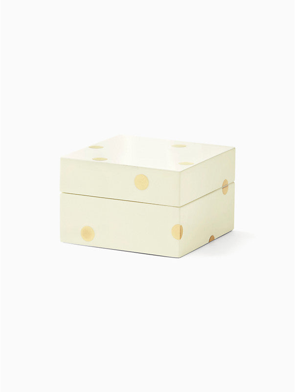 Kate Spade Small Gold Dot Lacquor Box