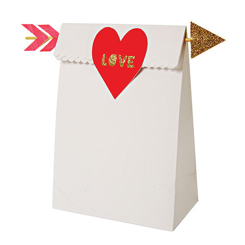 Treat bag with hearts and arrows