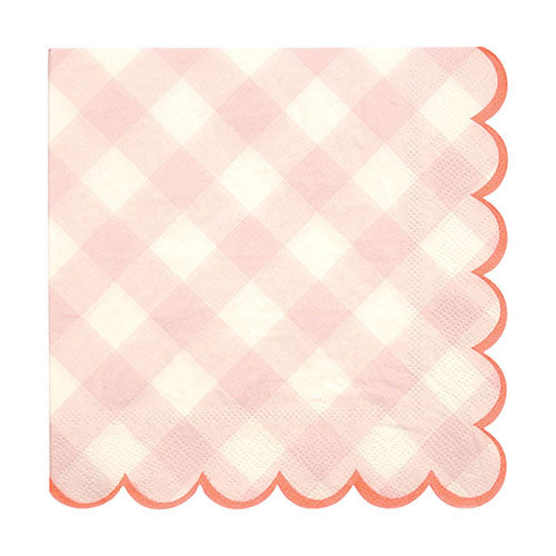 Pink Gingham Large Napkins