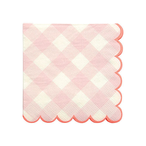 Pink Gingham Small Napkins
