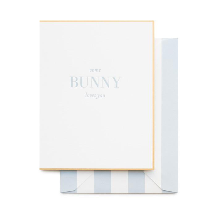 Some Bunny Loves You Letter Press Card
