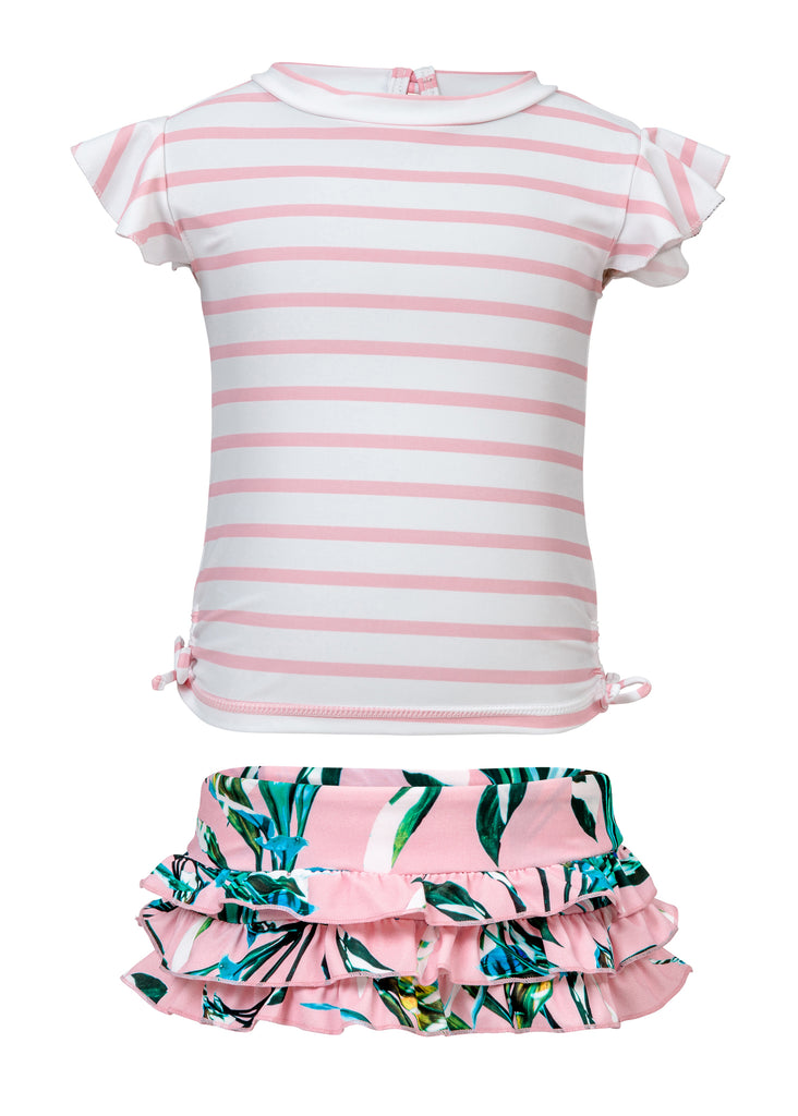 Toddler Royal Palm Pink Ruffle Set