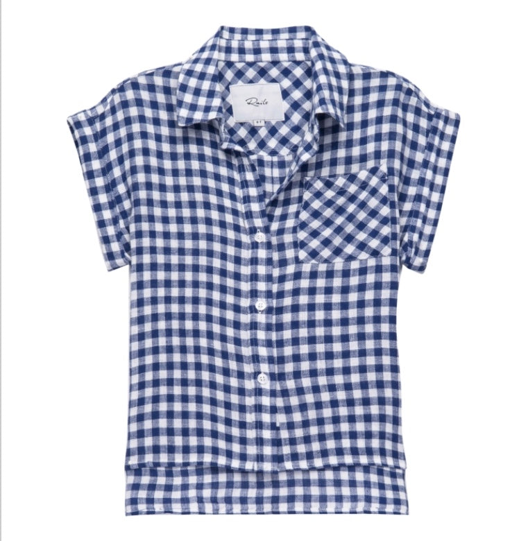 Blue Gingham Button Up