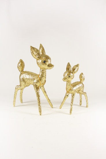 Gold Sparkle Reindeer Set
