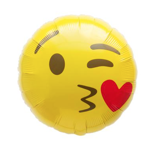 Emoji Kiss on the Check Balloon