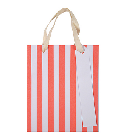 Neon Striped Small Gift Bags