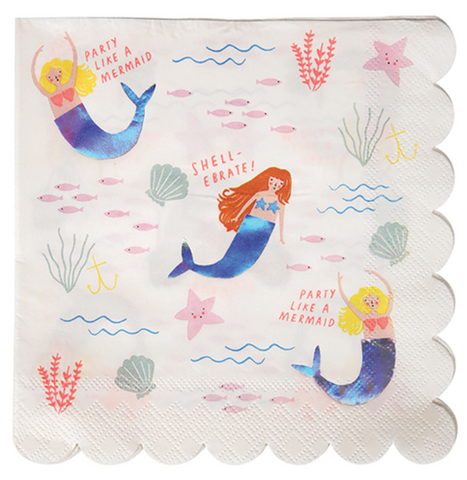 Lets Be Mermaids Large Napkins