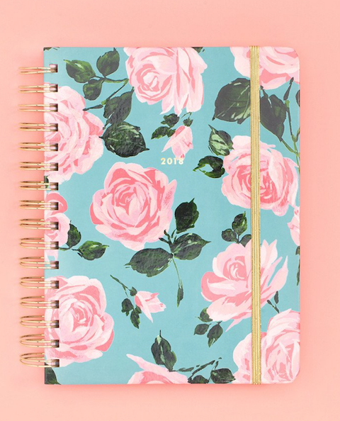 Ban.do blue floral medium agenda
