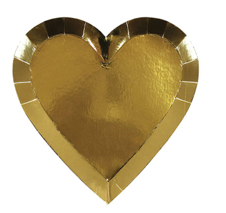 Gold Heart Small Plate