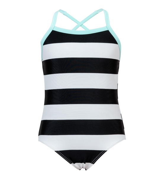 Black and White Stripe One Piece