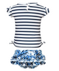 Toddler Navy Stripe Ruffle Set