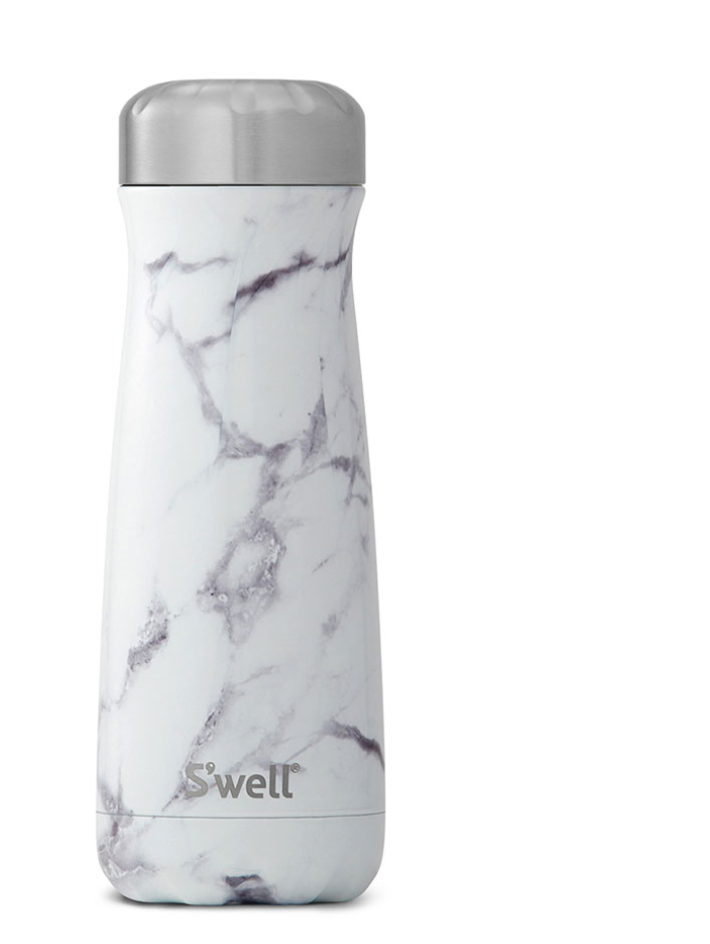 20oz White Marble S'well Traveler