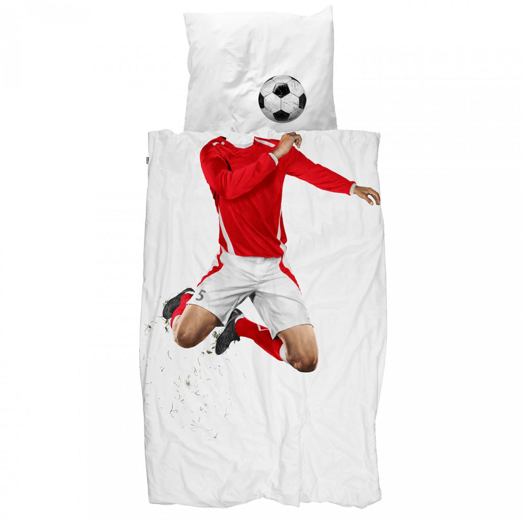 Red Soccer Champ Duvet -Twin