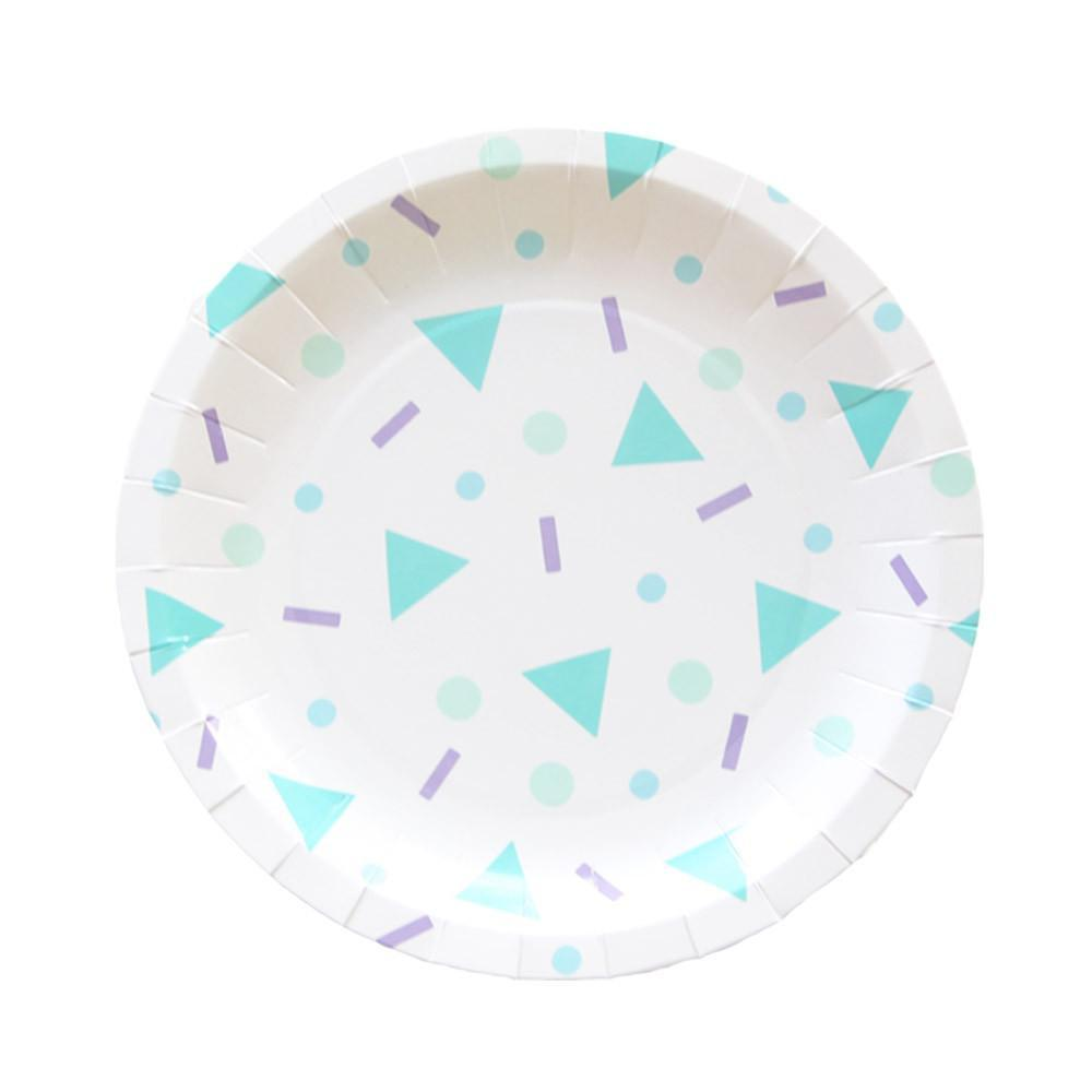 Large Confetti Pop Plates