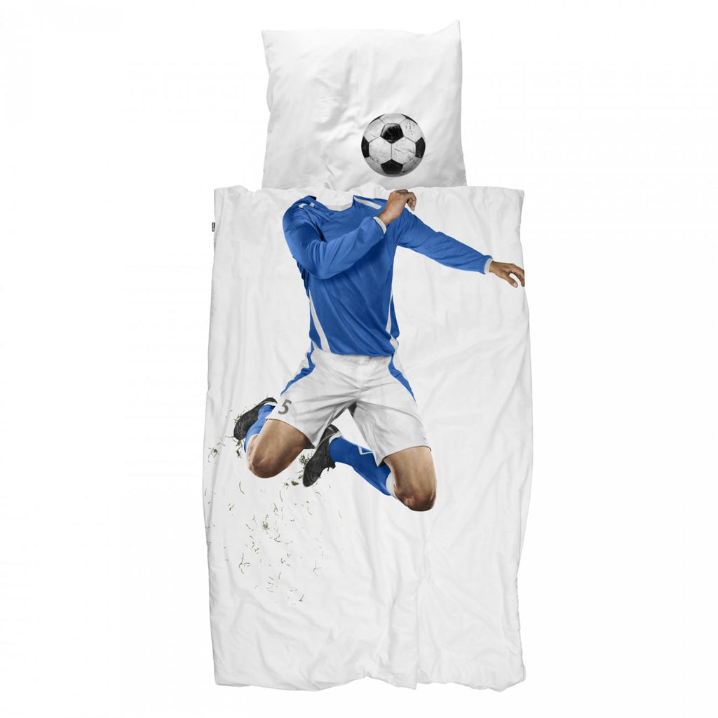 Blue Soccer Champ Duvet - Twin