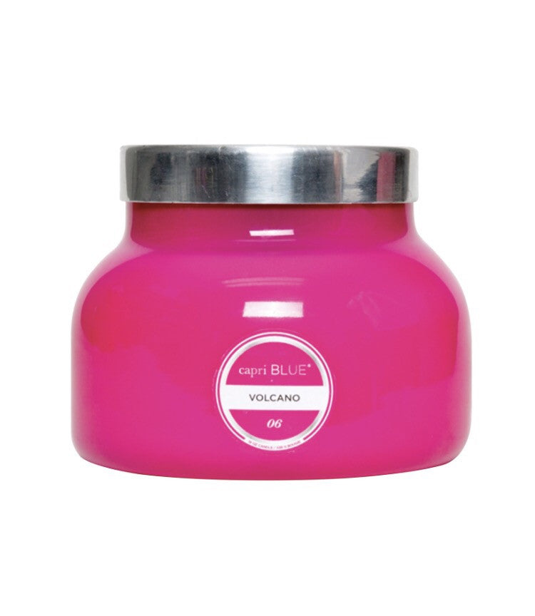 Pink volcano candle