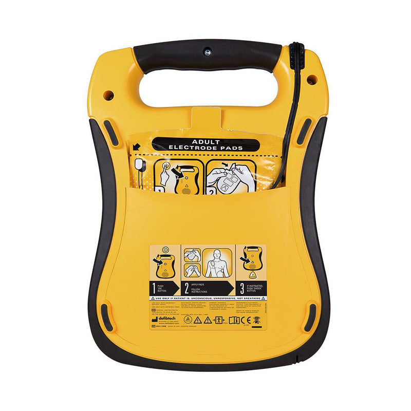Defibtech Lifeline AED Semi-Automatic Defibrillator Rear | First Medical Training