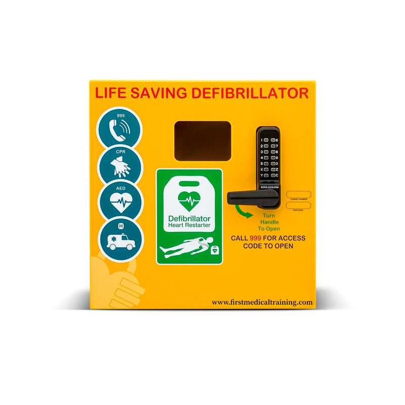 HeartSine Outdoor Digital Heated Defibrillator Cabinet with Keypad Lock | First Medical Training