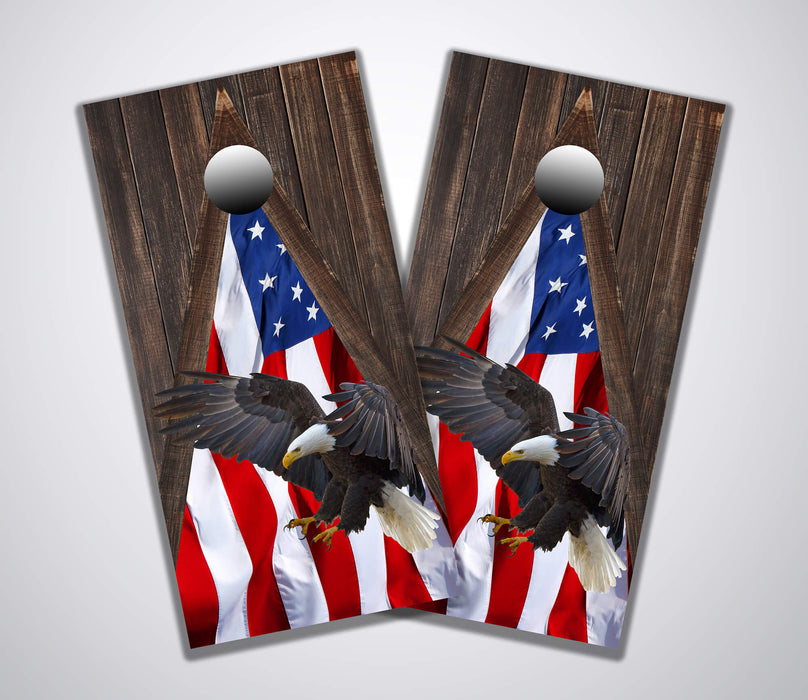 barnwood triangle flag eagle