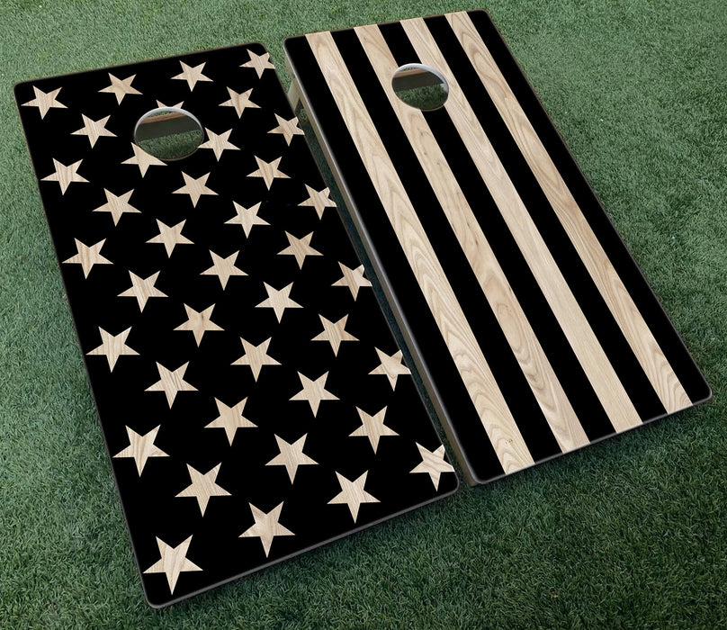 American Flag Stars and Stripes Blackout