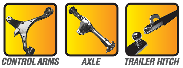Control Arms, Axles, Trailer Hitch