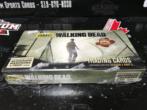 The Walking Dead Trading Cards Season 4, Part 2 - Cryptozoic 2016