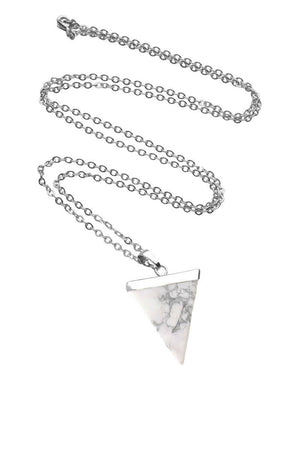 Triangle Cut Crystal Pendant Necklace
