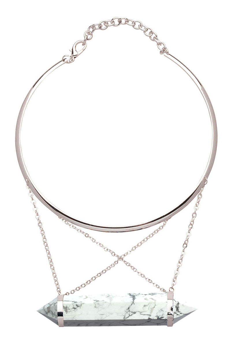 Cross-over Stone Choker