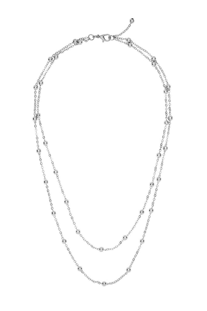 Layered Decorative Chain Necklace
