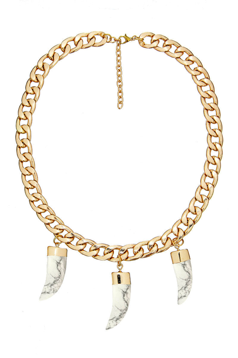 * Not Quite Right Sale ** Tri Tooth Chain Necklace