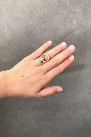 ** Not Quite Right Sale ** Loop Ring